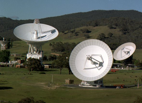 The Canberra Deep Space Communications Complex communicates with Voyager 1 - at a distance of 19 billion kilometres.
