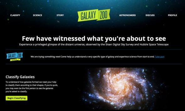 Galaxyzoo website