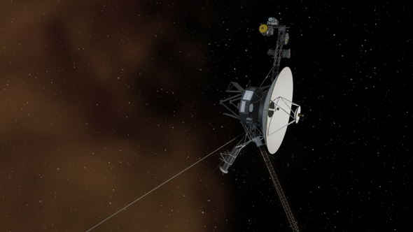 An artist concept of Voyager 1 entering interstellar space. Image: NASA/JPL-Caltech