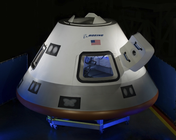 A full-size mockup of the CST-100. Image: Boeing