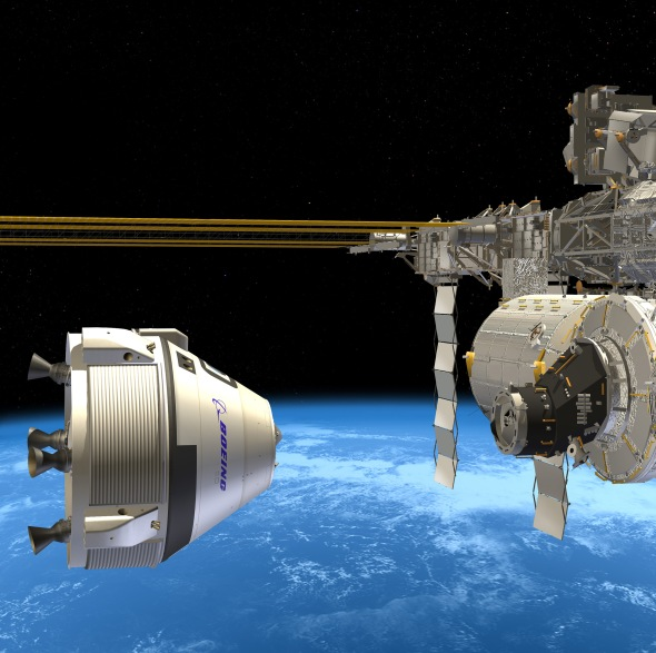 Enroute to the space station, the CST-100 will be capable of long stays in orbit. Image: Boeing