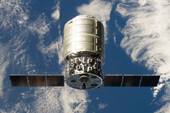 The first Cyngus capsule flew supplies to the space station in early 2014. Image: NASA
