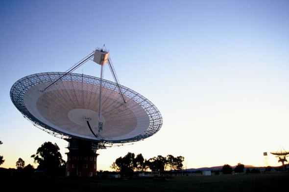 CSIRO's Parkes Radio Telescope helped to receive and relay the majority of the moonwalk around the world. Image: CSIRO