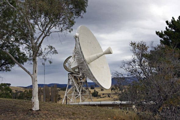 Deep Space Station 46 now located at the CSIRO managed Canberra Deep Space Communication Complex is the dish which relayed the first images of Neil Armstrong walking on the Moon. Image: CDSCC