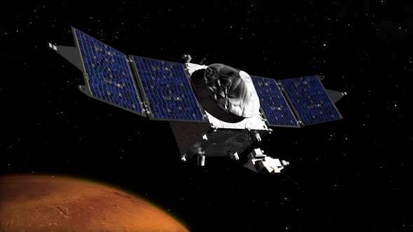 MAVEN: Mars Atmosphere and Volatile Evolution mission. Image: NASA