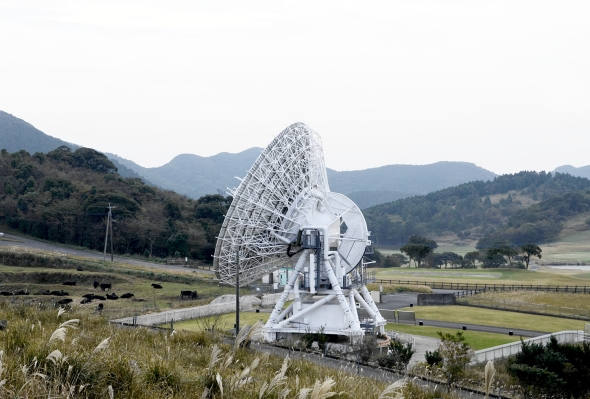 The 20m Iriki telescope, one of the four VERA dishes in Japan.