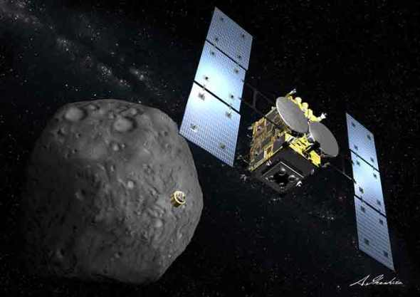 Hayabusa 2's instruments and probes will explore the comet's surface and interior. Image: JAXA