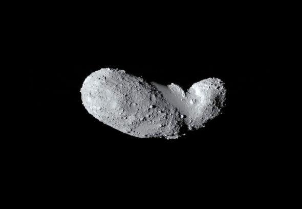 Asteroid Itokawa visited by the first Hayabusa spacecraft. Image: JAXA