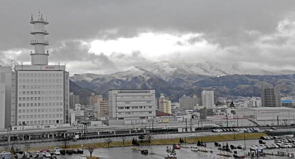 Snow above Yamagata