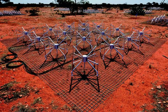 The Murchison Widefield Array. Photo: Curtin University